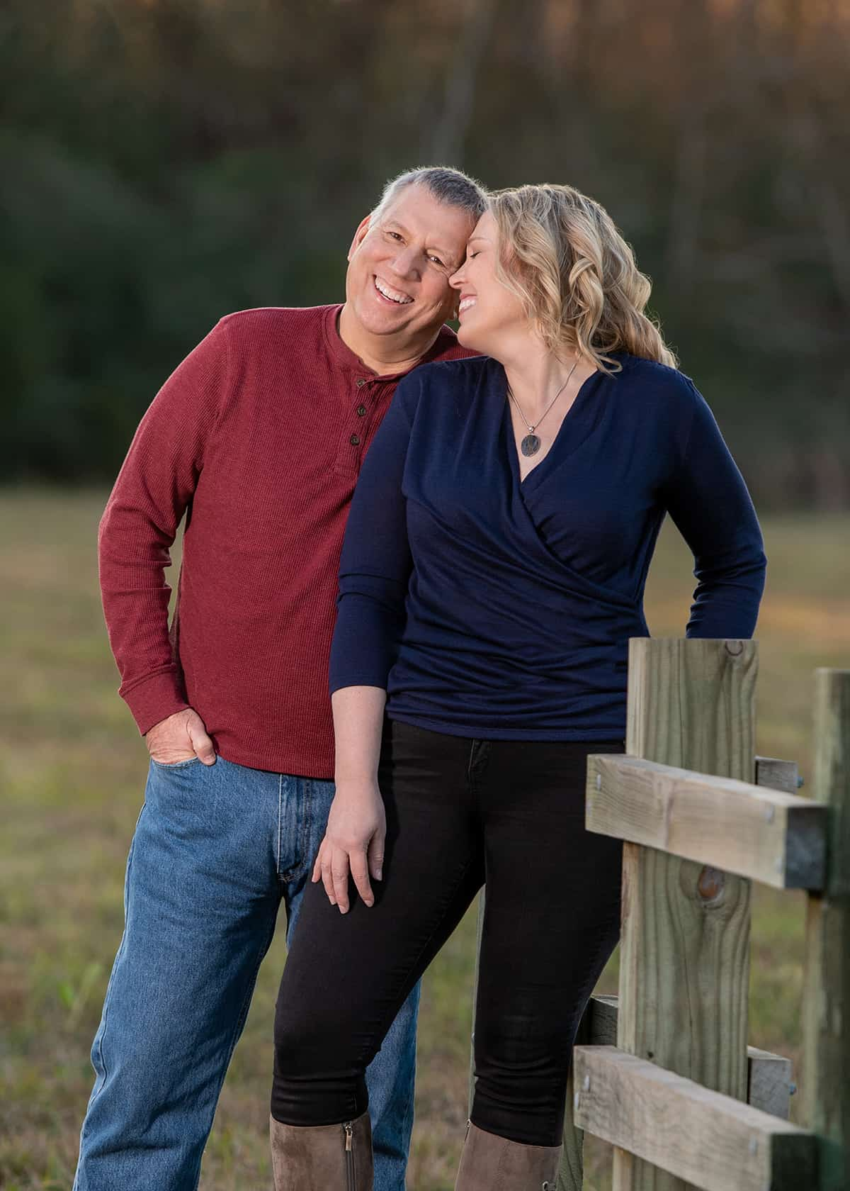 Couple in the park photoshoot celebrating 30 years of marriage