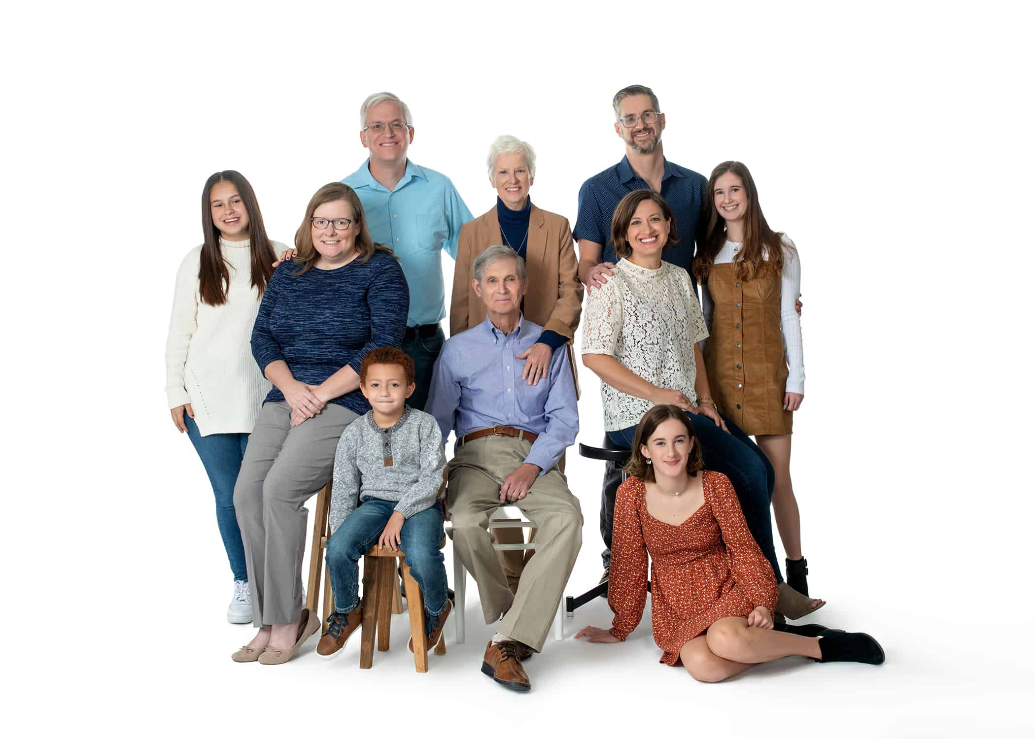 extended family photoshoot