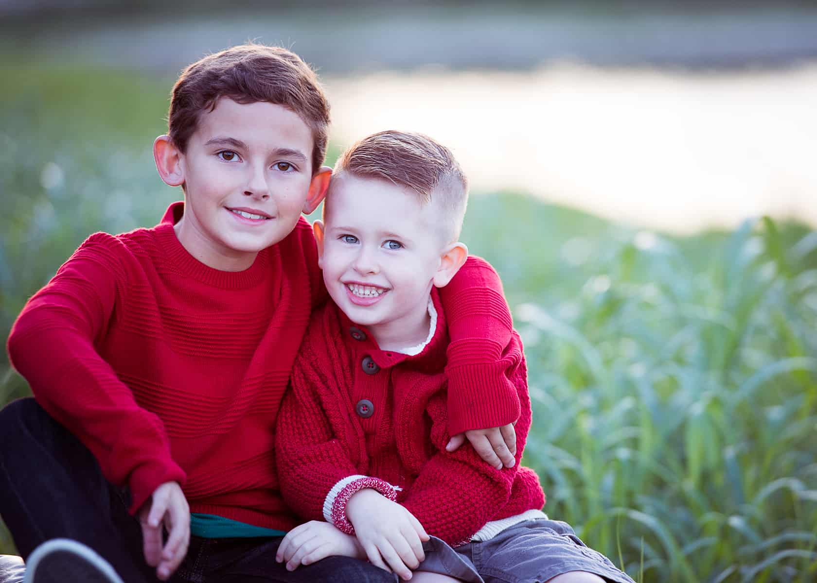 Cousins at the park for photoshoot