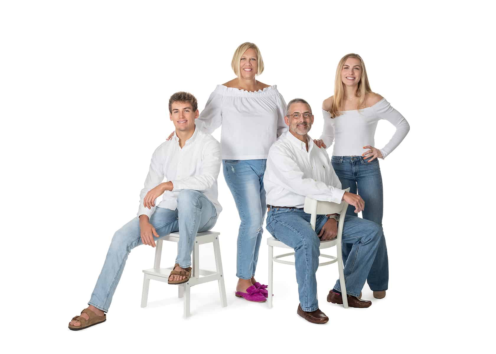 Family photoshoot with teens