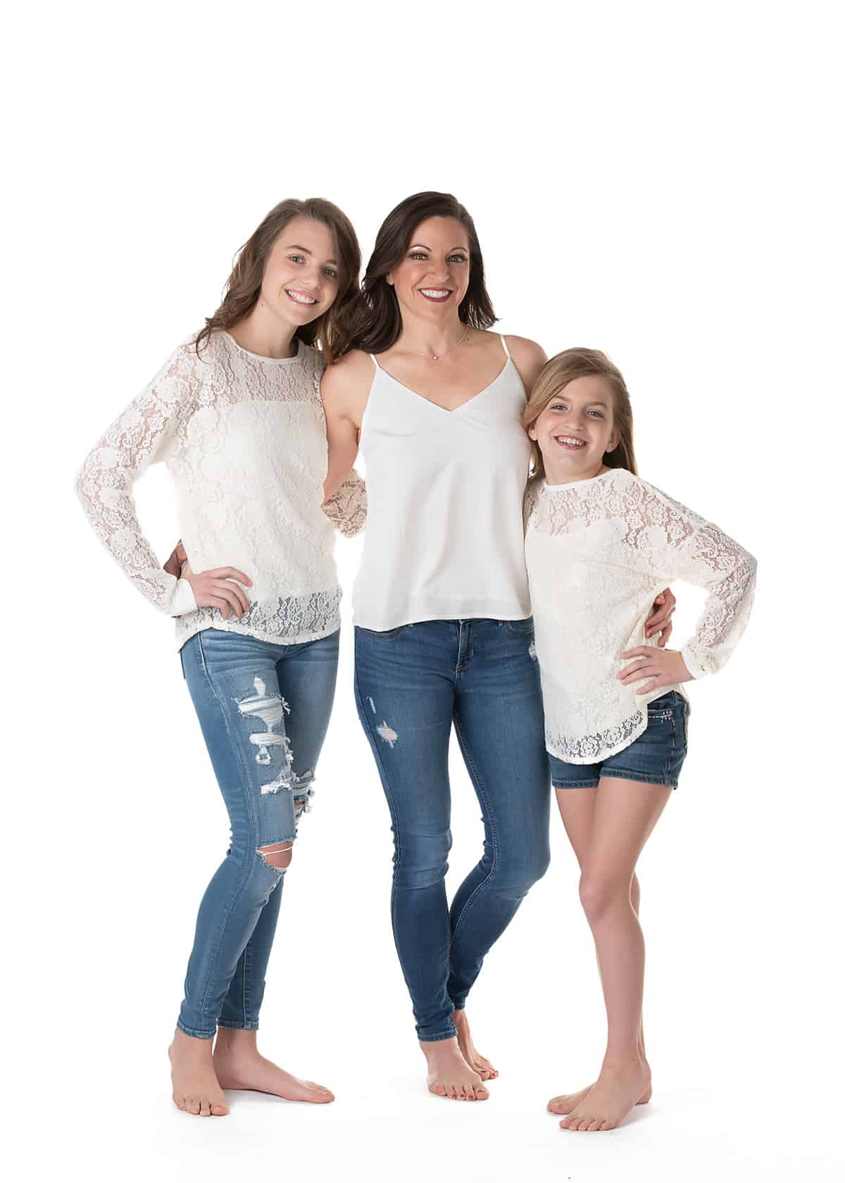 Mom and daughters photoshoot